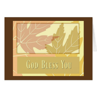 Fall Leaves Maple Leaf Autumn Blessing Card