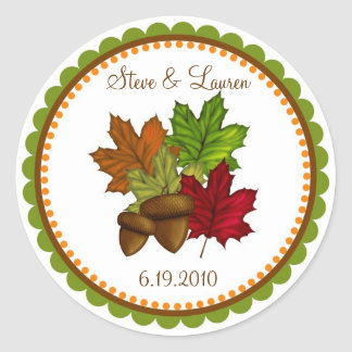 Fall Leaves, Maple Leaves and Acorns Stickers