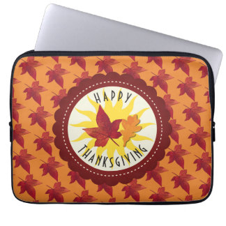 Fall Leaves Maple Thanksgiving Laptop Sleeve