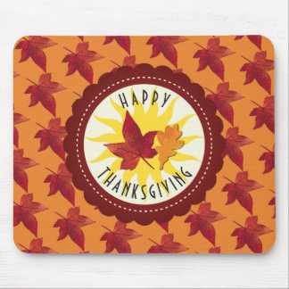 Fall Leaves Maple Thanksgiving Mouse Pad