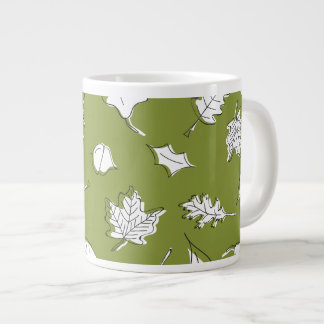 Fall Leaves Mug - Green Leaf and Acorn