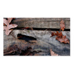 Fall Leaves on Old Wood Business Cards