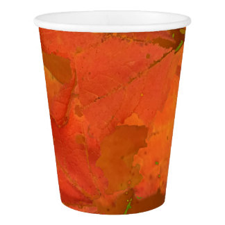 Fall Leaves Paper Cups