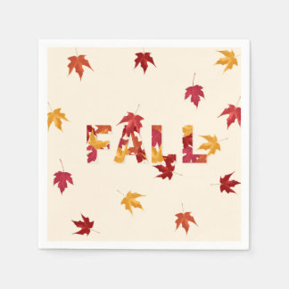 Fall leaves paper napkins