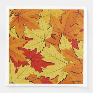 Fall Leaves Pattern Napkins Disposable Serviette