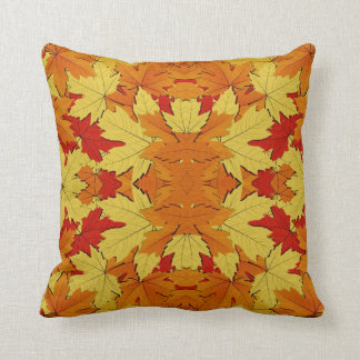 Fall Leaves Pattern Pillow Home Decor