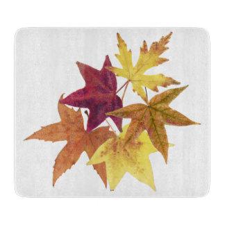 Fall leaves print cutting board