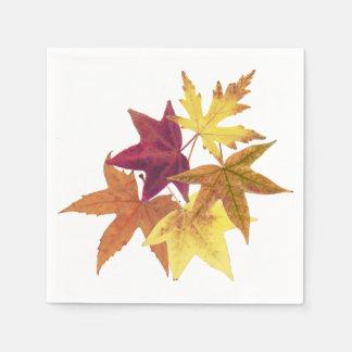Fall leaves print napkins disposable napkin