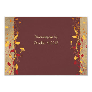 Fall Leaves rsvp with envelope 9 Cm X 13 Cm Invitation Card