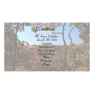 """Fall Leaves Scene"" Business Card"
