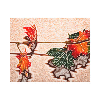 fall leaves sketch image autumn leaf orange canvas prints