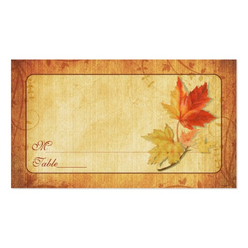 Fall Leaves Special Occasion Place Cards Pack Of Standard Business Cards