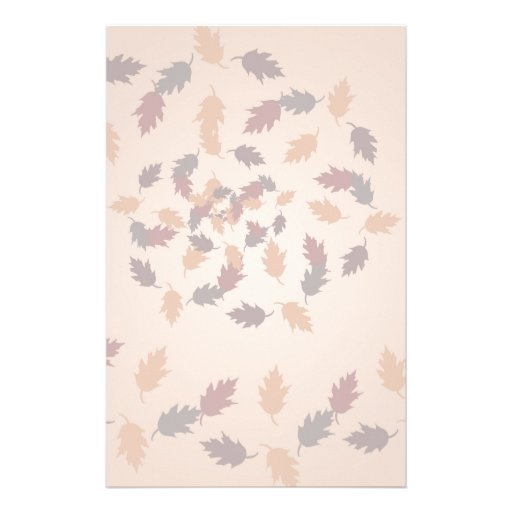 Fall Leaves Spiral Stationery Paper