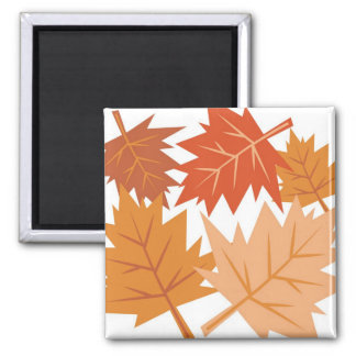 Fall Leaves Square Magnet