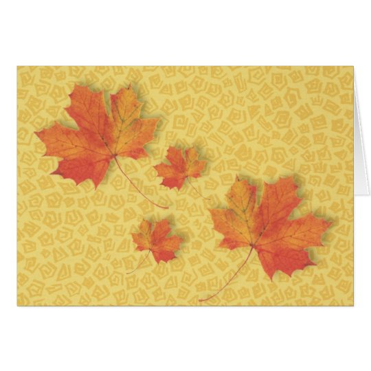 Fall Leaves Thanksgiving Card