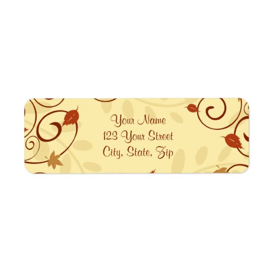 Fall Leaves Thanksgiving Return Address Labels