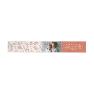 Fall Leaves Thanksgiving Wrap Around Label