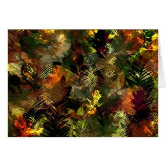 Fall Leaves Watercolour Greeting Card