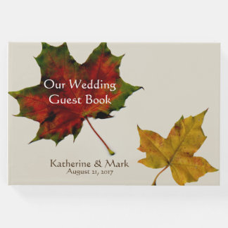 Fall Leaves Wedding Guest Book