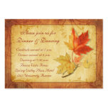 Fall Leaves Wedding Reception Card