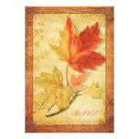Fall Leaves Wedding Reply Card (RSVP Card) Personalised Invites