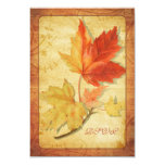Fall Leaves Wedding Reply Card (RSVP Card) Ver 3 Personalized Invitation