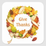 Fall leaves wreath Thanksgiving Sticker