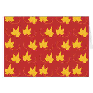 Fall Leaves: Yellow Leaf, Note Card