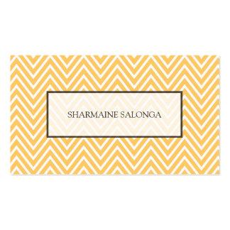 Fall Light Yellow Chevron Pattern Modern Pack Of Standard Business Cards