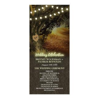 Fall Lights Oak Tree Wedding Ceremony Programs Rack Card