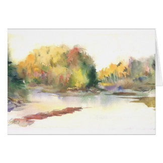 Fall, looking north on the Nooksack River Greeting Card