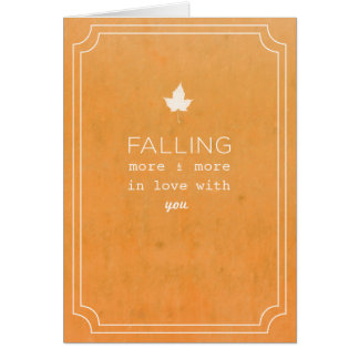 Fall Love Note Greeting Card