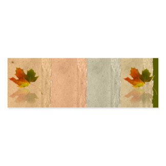 Fall Maple Leaf on Faux Handmade Paper Placecard Business Cards