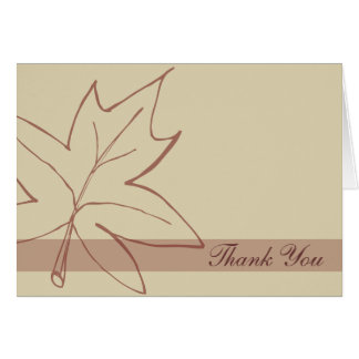 Fall Maple Leaf Thank You Note Card