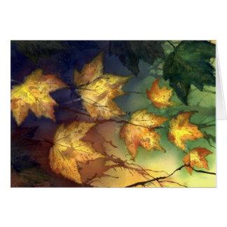 Fall Maple Leaves Card