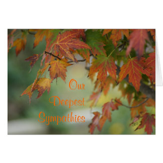 Fall Maple Leaves card- customize any occasion Card