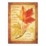 Fall Maple Leaves Wedding Invitation Ver Three 13 Cm X 18 Cm Invitation Card