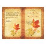 Fall Maple Leaves Wedding Program Full Color Flyer