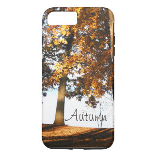 Fall maple tree leaves autumn monogram iPhone 8 plus/7 plus case