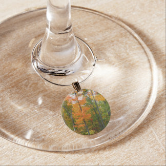 Fall Maple Trees Autumn Nature Photography Wine Glass Charms