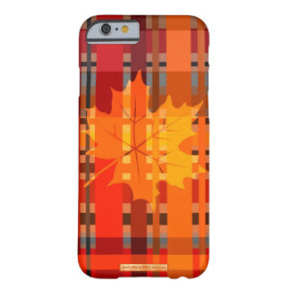 Fall n' Love With Plaid Barely There iPhone 6 Case