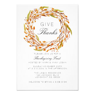 Fall Nest Thanksgiving   Watercolor Card