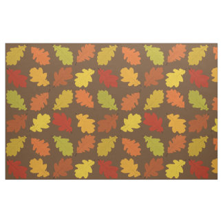 Fall Oak Leaves Pattern Fabric