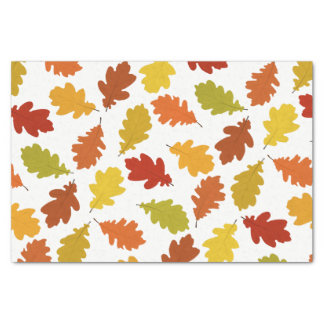 Fall Oak Leaves Pattern Tissue Paper