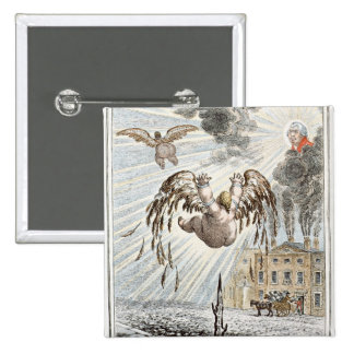 Fall of Icarus, 1807 15 Cm Square Badge