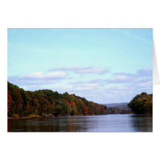 Fall on the Delaware River Greeting Card