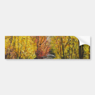 Fall Painting Bumper Sticker