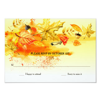 Fall Palette RSVP Cards