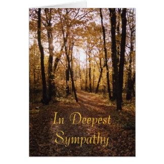 Fall path1,Sympathy Card