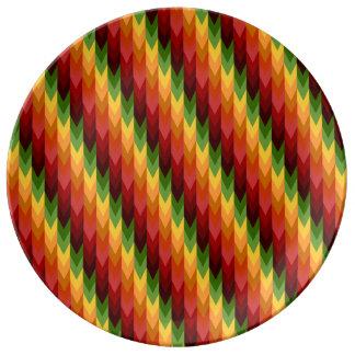 Fall Pattern NO.1: Chevron Pattern China Plate Porcelain Plates
